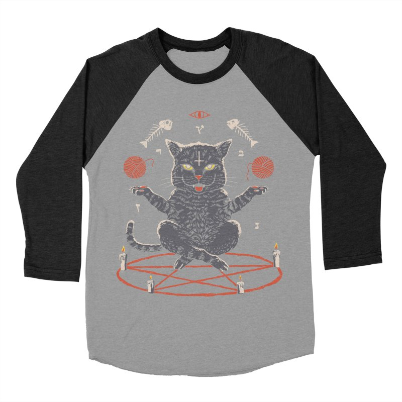 Devious Cat Men's Baseball Triblend Longsleeve T-Shirt by vincenttrinidad's Artist Shop