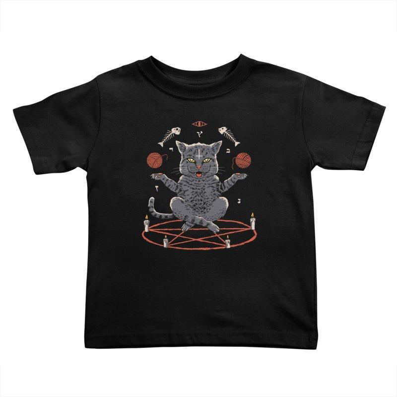 Devious Cat Kids Toddler T-Shirt by vincenttrinidad's Artist Shop