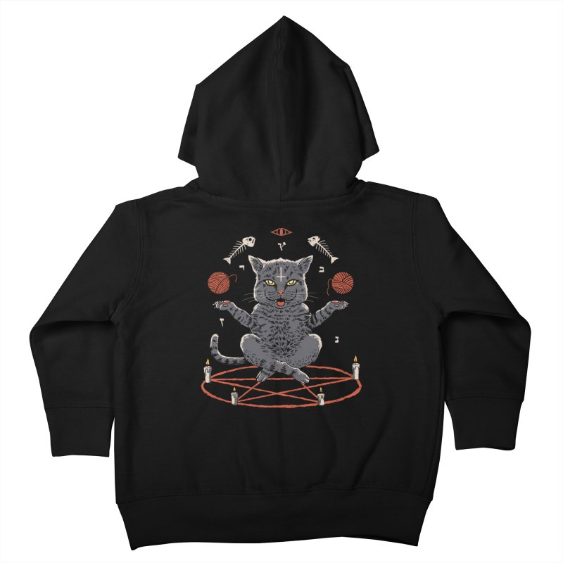 Devious Cat Kids Toddler Zip-Up Hoody by vincenttrinidad's Artist Shop