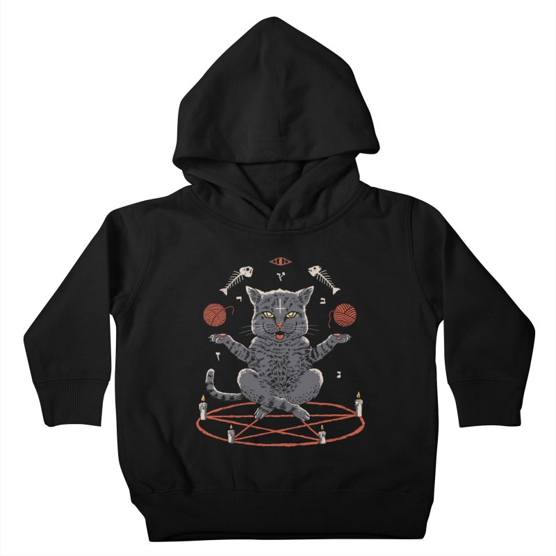Devious Cat Kids Toddler Pullover Hoody by vincenttrinidad's Artist Shop