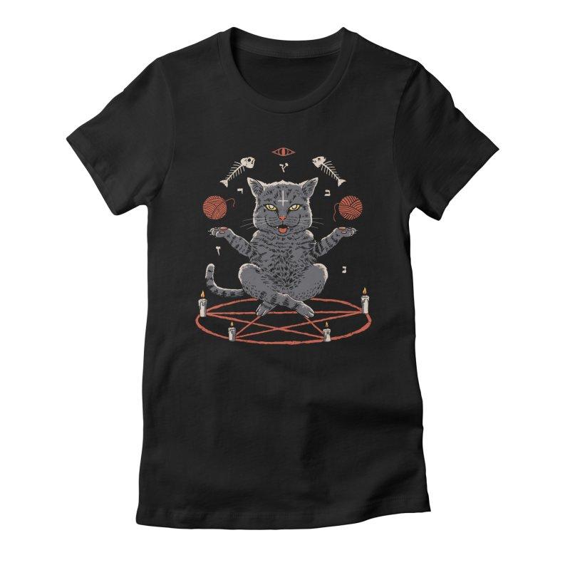 Devious Cat Women's Fitted T-Shirt by vincenttrinidad's Artist Shop