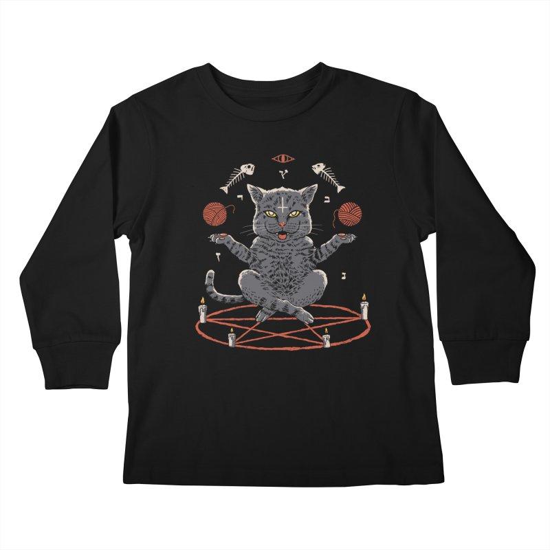Devious Cat Kids Longsleeve T-Shirt by vincenttrinidad's Artist Shop