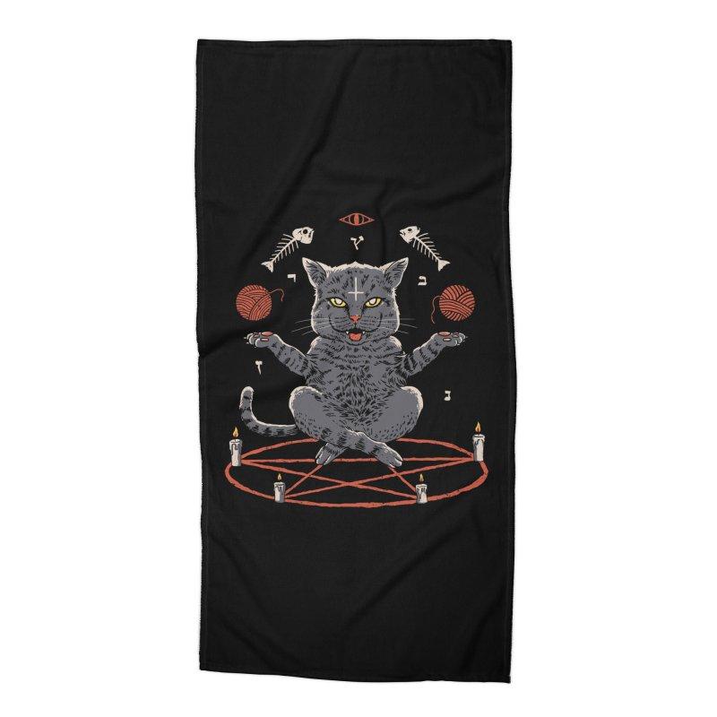Devious Cat Accessories Beach Towel by vincenttrinidad's Artist Shop