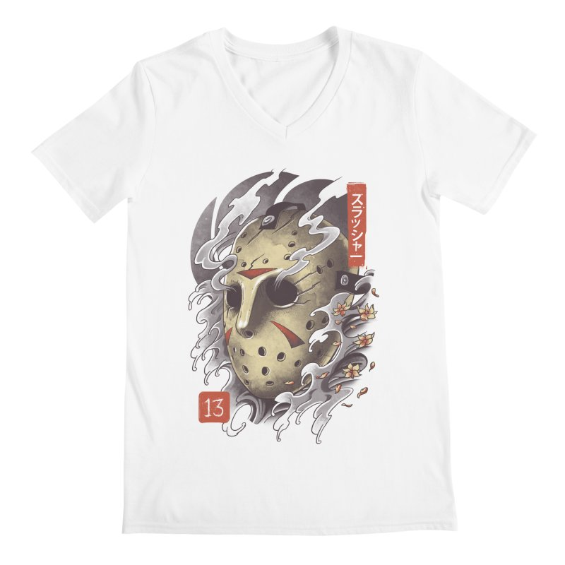 Oni Jason Mask Men's Regular V-Neck by vincenttrinidad's Artist Shop