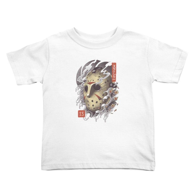 Oni Jason Mask Kids Toddler T-Shirt by vincenttrinidad's Artist Shop