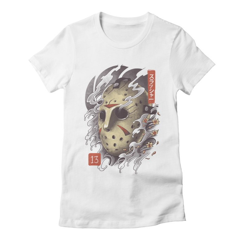 Oni Jason Mask Women's Fitted T-Shirt by vincenttrinidad's Artist Shop