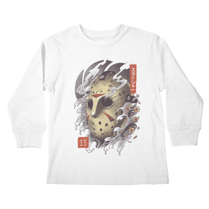 Oni Jason Mask Kids Longsleeve T-Shirt by vincenttrinidad's Artist Shop