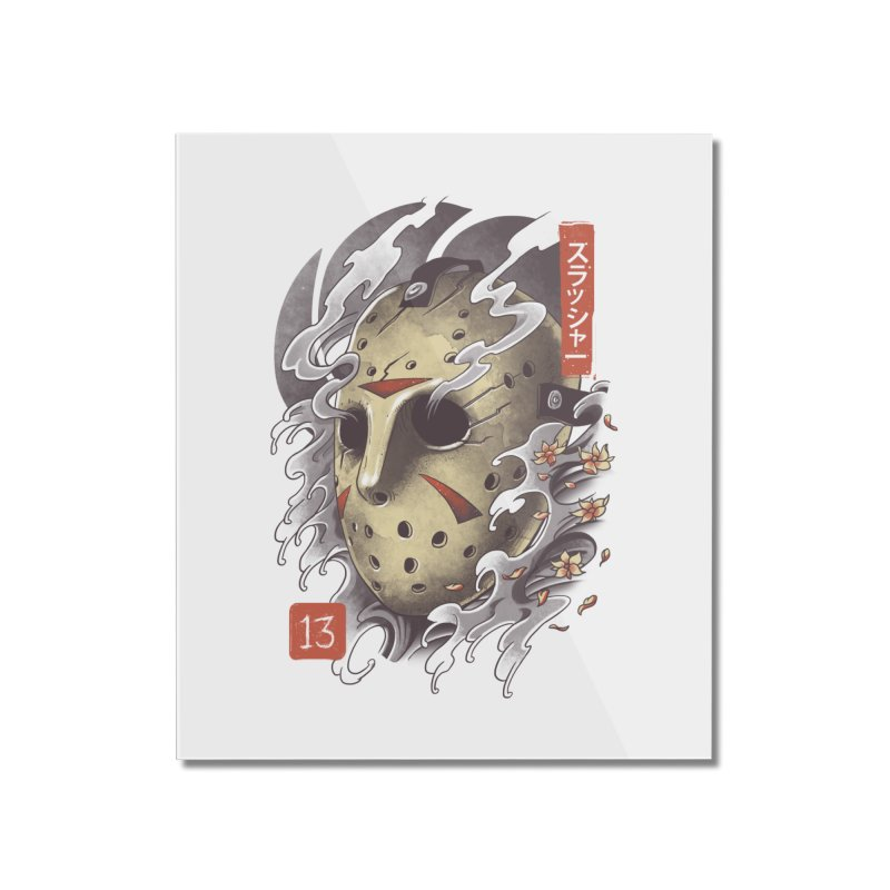 Oni Jason Mask Home Mounted Acrylic Print by vincenttrinidad's Artist Shop