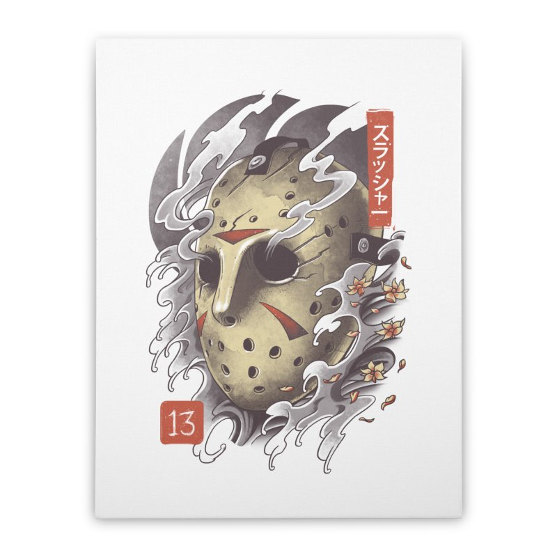 Oni Jason Mask Home Stretched Canvas by vincenttrinidad's Artist Shop