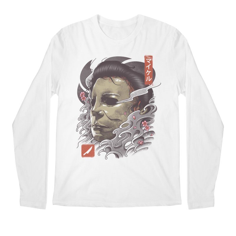 Oni Slasher Mask Men's Regular Longsleeve T-Shirt by vincenttrinidad's Artist Shop