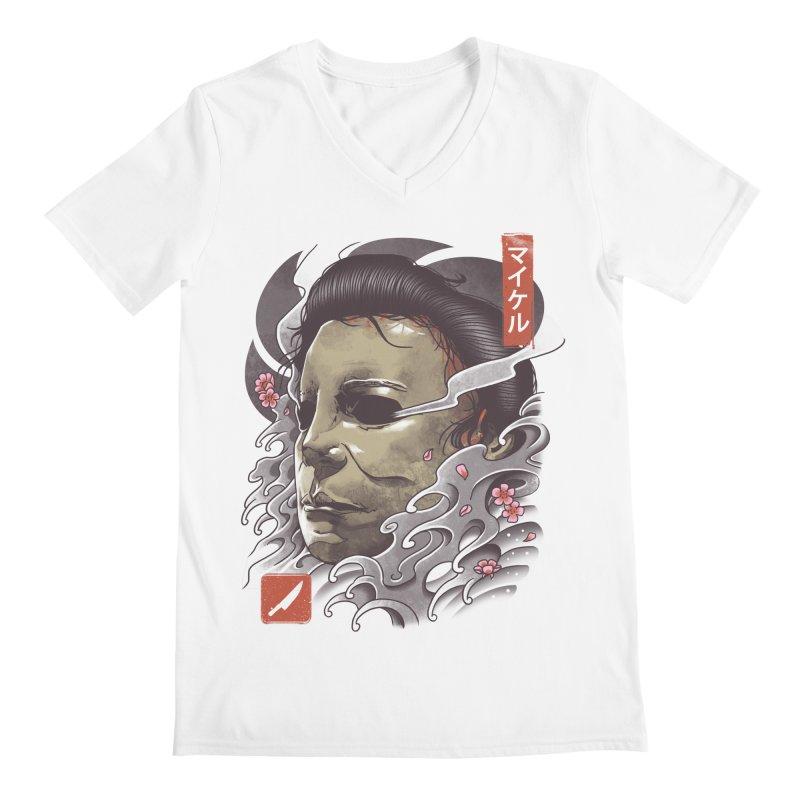 Oni Slasher Mask Men's Regular V-Neck by vincenttrinidad's Artist Shop