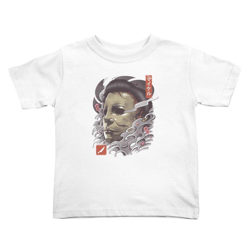 Oni Slasher Mask Kids Toddler T-Shirt by vincenttrinidad's Artist Shop