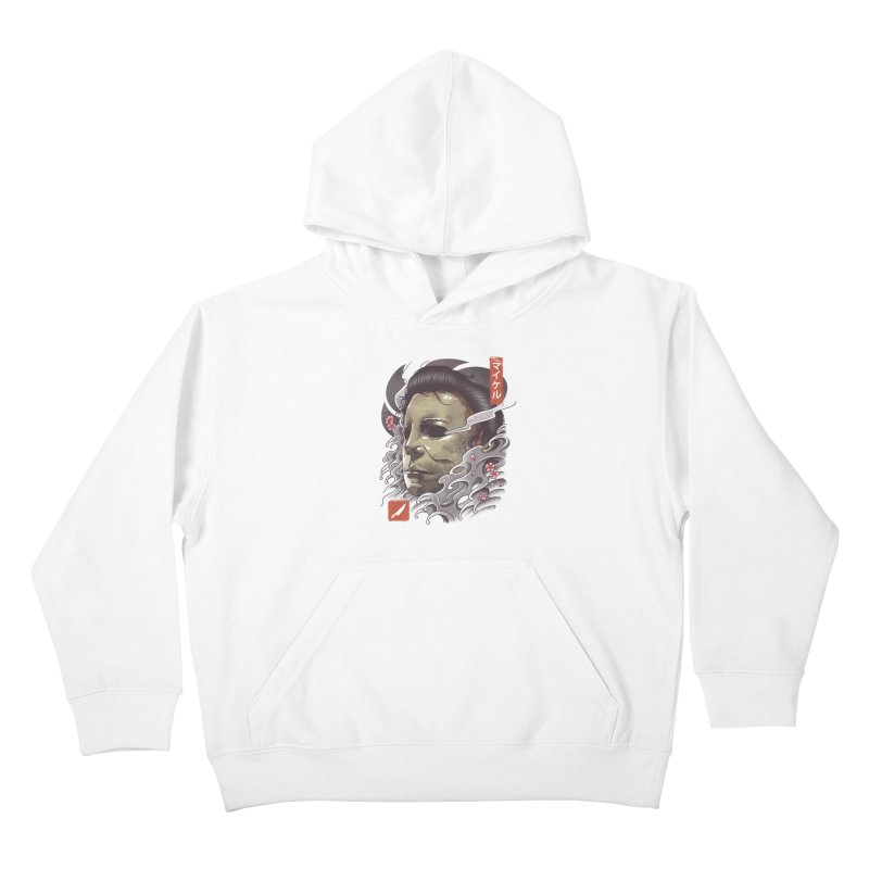 Oni Slasher Mask Kids Pullover Hoody by vincenttrinidad's Artist Shop