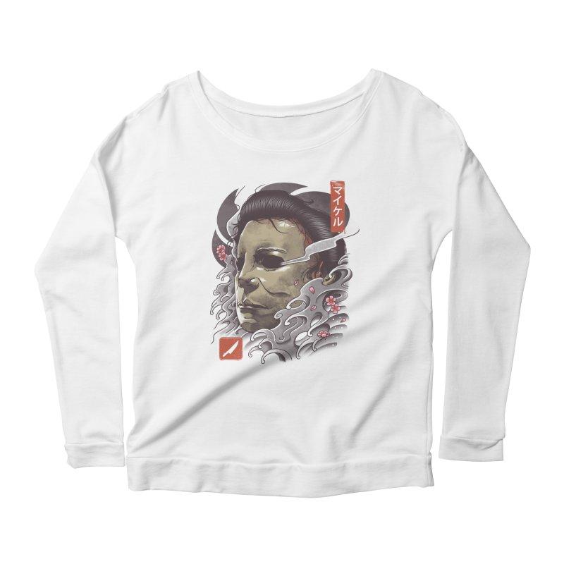 Oni Slasher Mask Women's Scoop Neck Longsleeve T-Shirt by vincenttrinidad's Artist Shop
