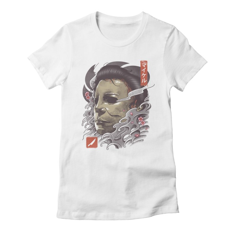 Oni Slasher Mask Women's Fitted T-Shirt by vincenttrinidad's Artist Shop