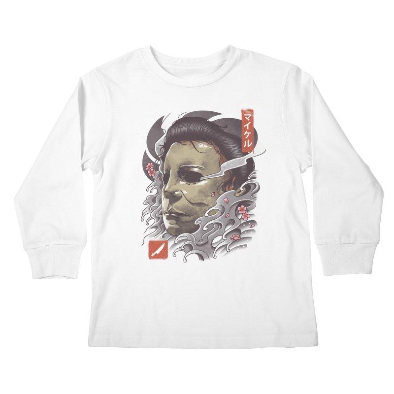 Oni Slasher Mask Kids Longsleeve T-Shirt by vincenttrinidad's Artist Shop