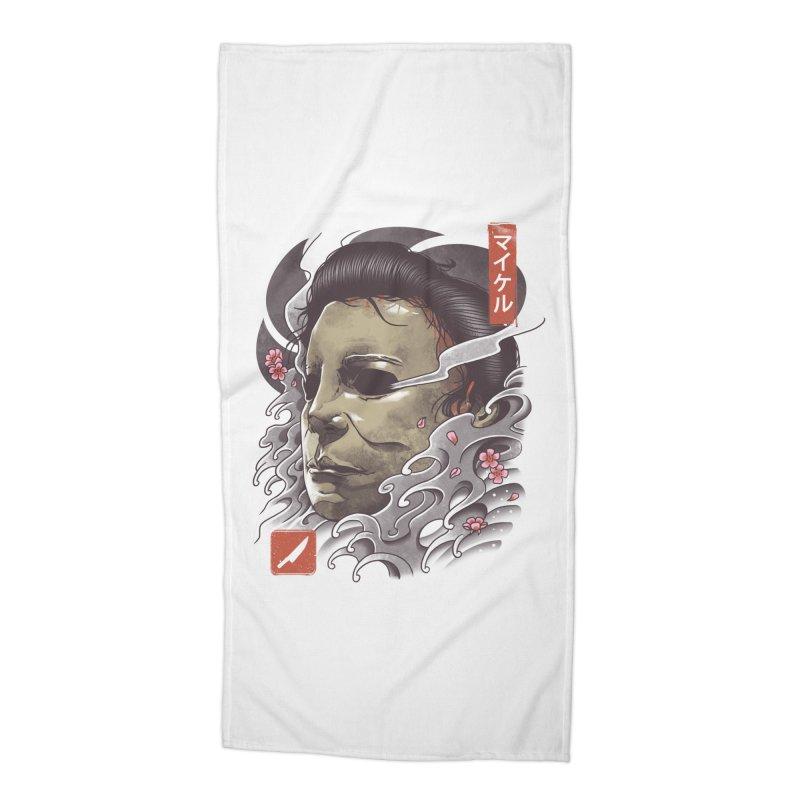Oni Slasher Mask Accessories Beach Towel by vincenttrinidad's Artist Shop