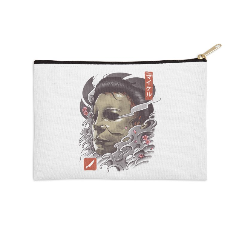 Oni Slasher Mask Accessories Zip Pouch by vincenttrinidad's Artist Shop