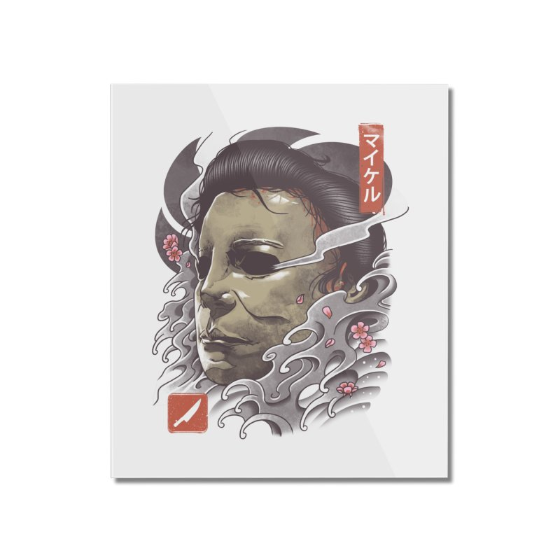 Oni Slasher Mask Home Mounted Acrylic Print by vincenttrinidad's Artist Shop