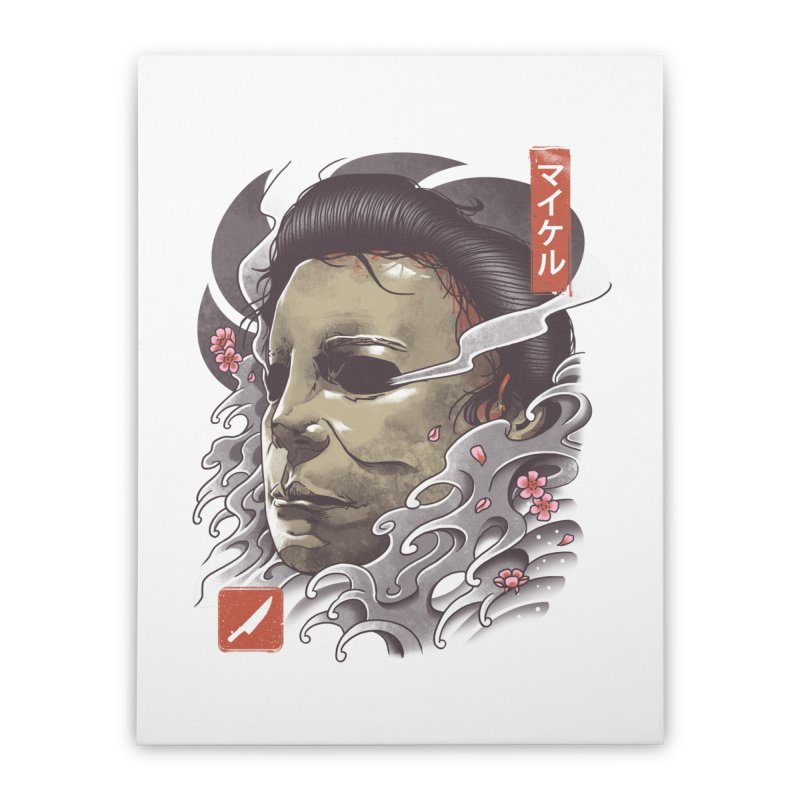 Oni Slasher Mask Home Stretched Canvas by vincenttrinidad's Artist Shop