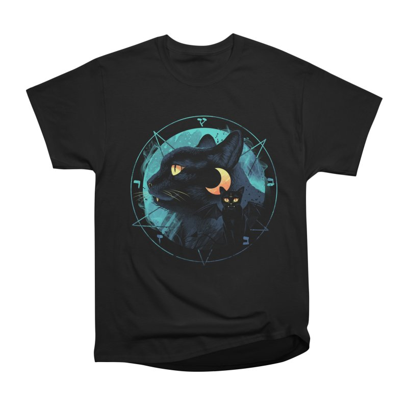Puss the Evil Cat Men's Heavyweight T-Shirt by vincenttrinidad's Artist Shop