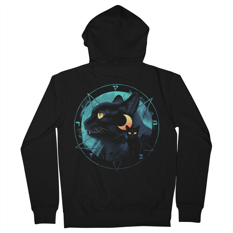 Puss the Evil Cat Men's French Terry Zip-Up Hoody by vincenttrinidad's Artist Shop