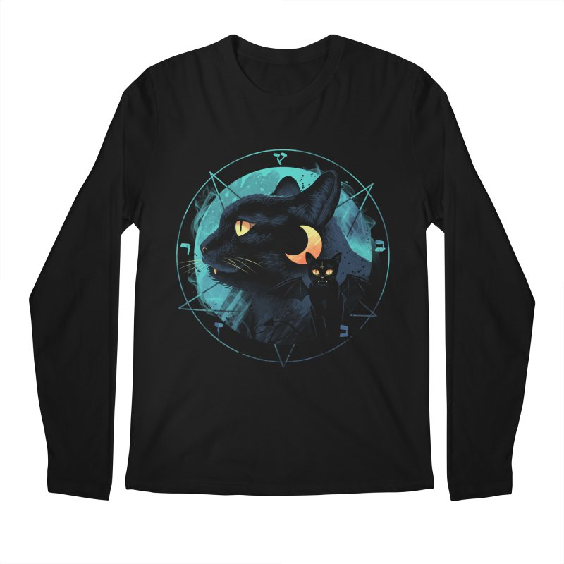 Puss the Evil Cat Men's Regular Longsleeve T-Shirt by vincenttrinidad's Artist Shop