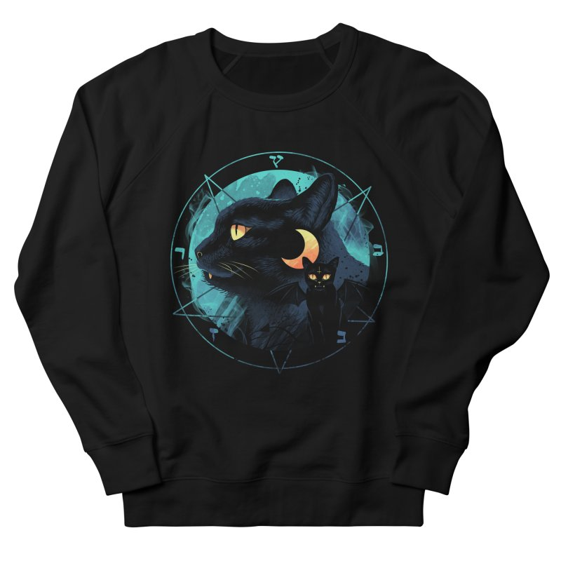 Puss the Evil Cat Women's French Terry Sweatshirt by vincenttrinidad's Artist Shop