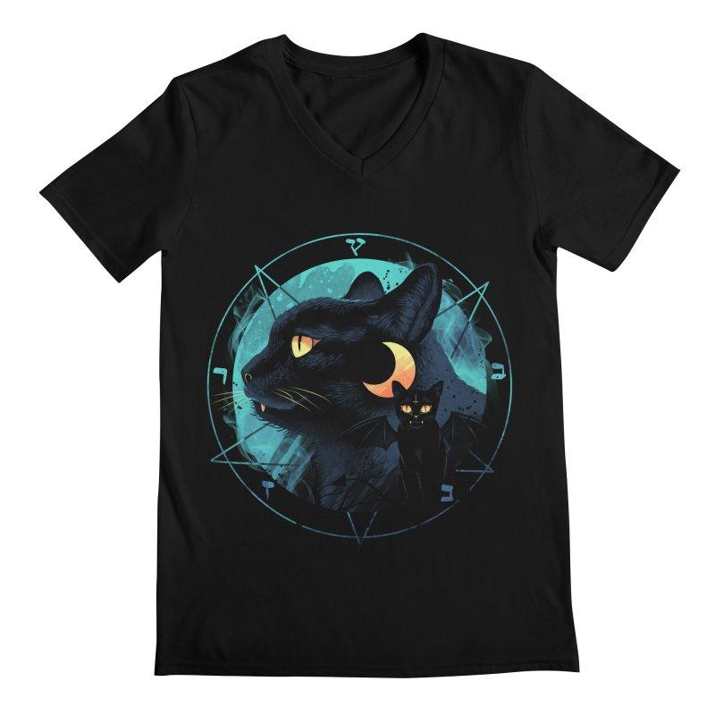 Puss the Evil Cat Men's Regular V-Neck by vincenttrinidad's Artist Shop
