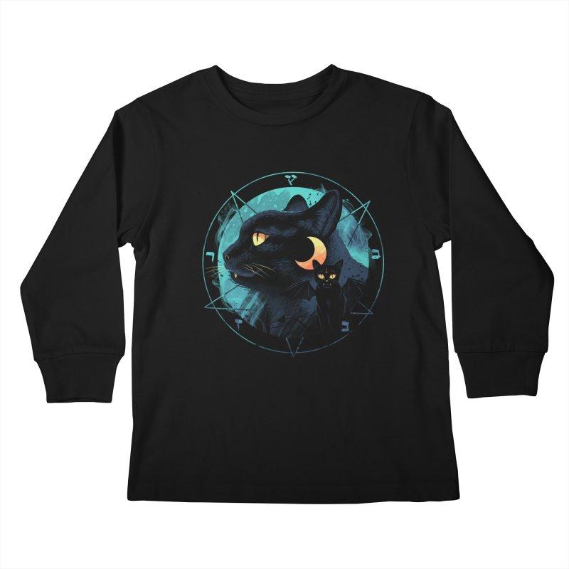 Puss the Evil Cat Kids Longsleeve T-Shirt by vincenttrinidad's Artist Shop