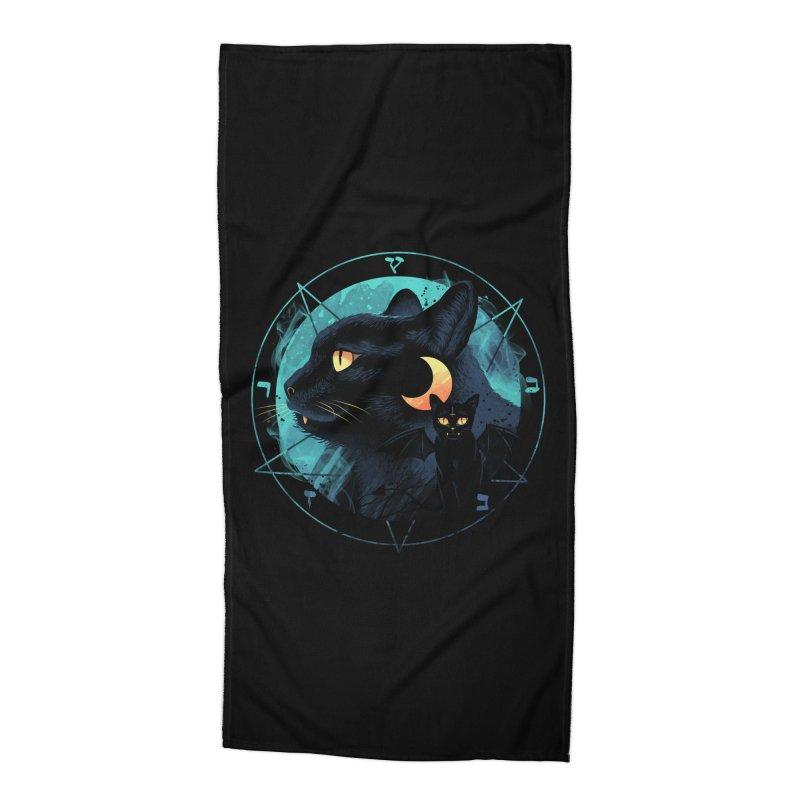 Puss the Evil Cat Accessories Beach Towel by vincenttrinidad's Artist Shop