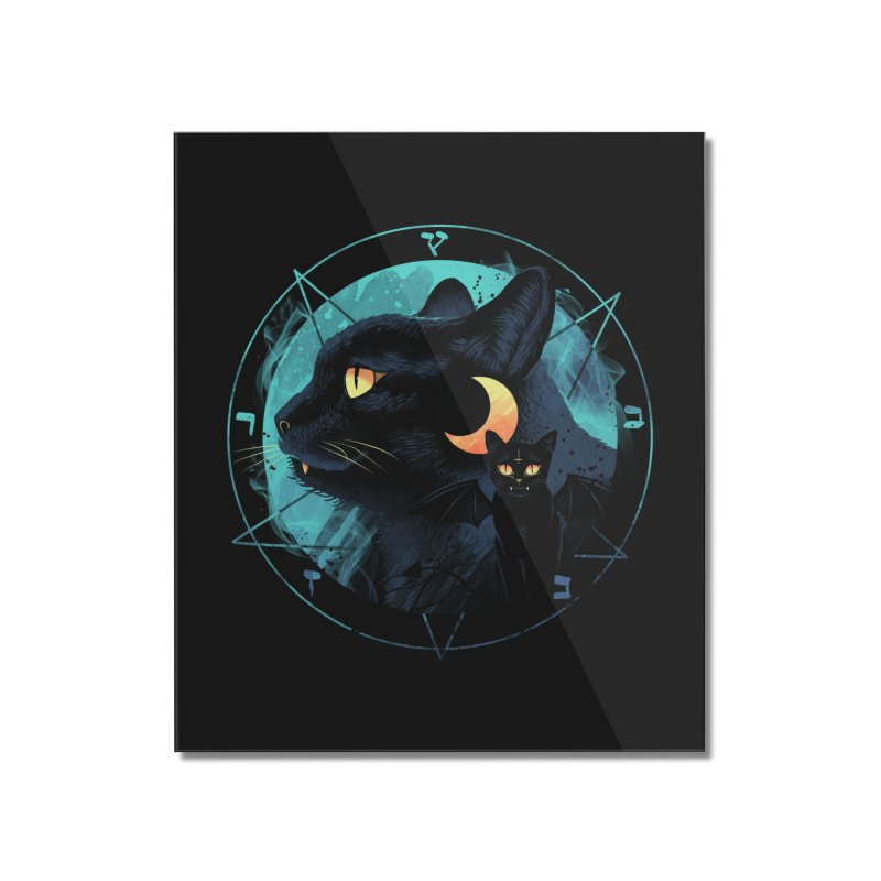 Puss the Evil Cat Home Mounted Acrylic Print by vincenttrinidad's Artist Shop