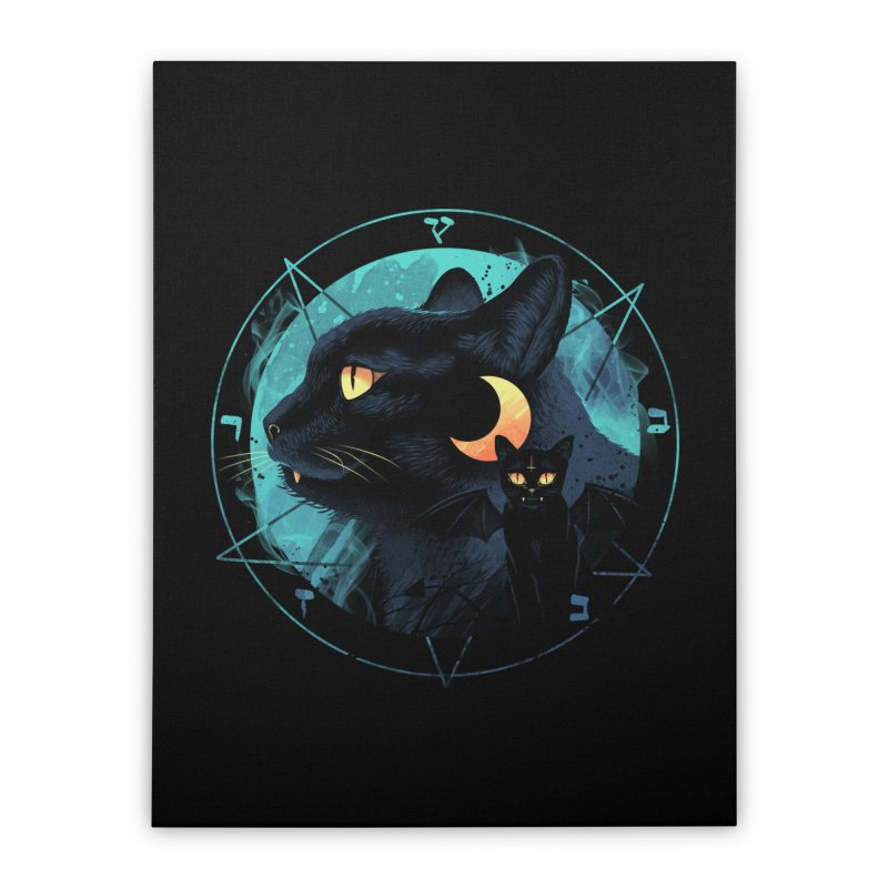 Puss the Evil Cat Home Stretched Canvas by vincenttrinidad's Artist Shop