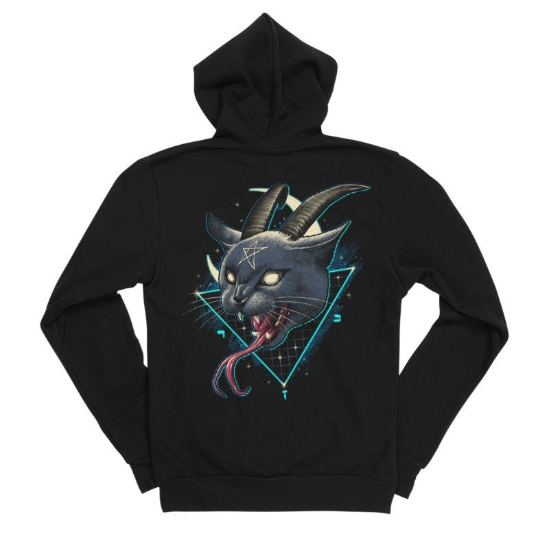 Rad Devil Cat Men's Sponge Fleece Zip-Up Hoody by vincenttrinidad's Artist Shop