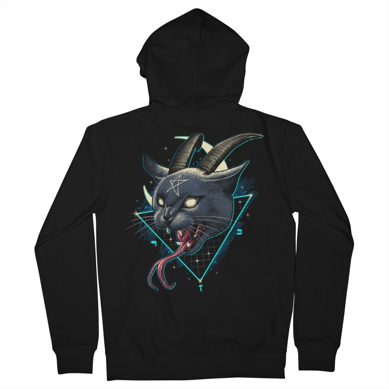 Rad Devil Cat Women's French Terry Zip-Up Hoody by vincenttrinidad's Artist Shop