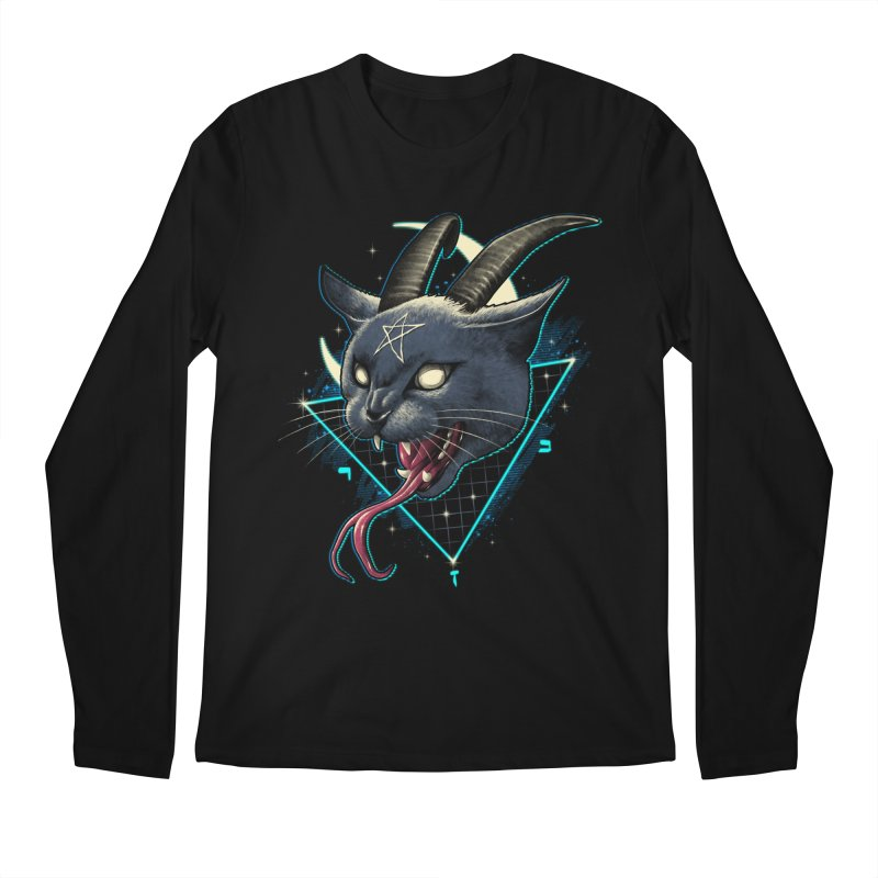 Rad Devil Cat Men's Regular Longsleeve T-Shirt by vincenttrinidad's Artist Shop