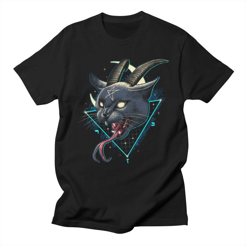 Rad Devil Cat Men's Regular T-Shirt by vincenttrinidad's Artist Shop