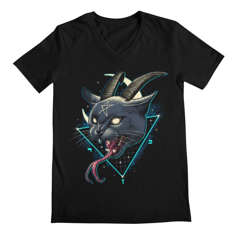 Rad Devil Cat Men's Regular V-Neck by vincenttrinidad's Artist Shop