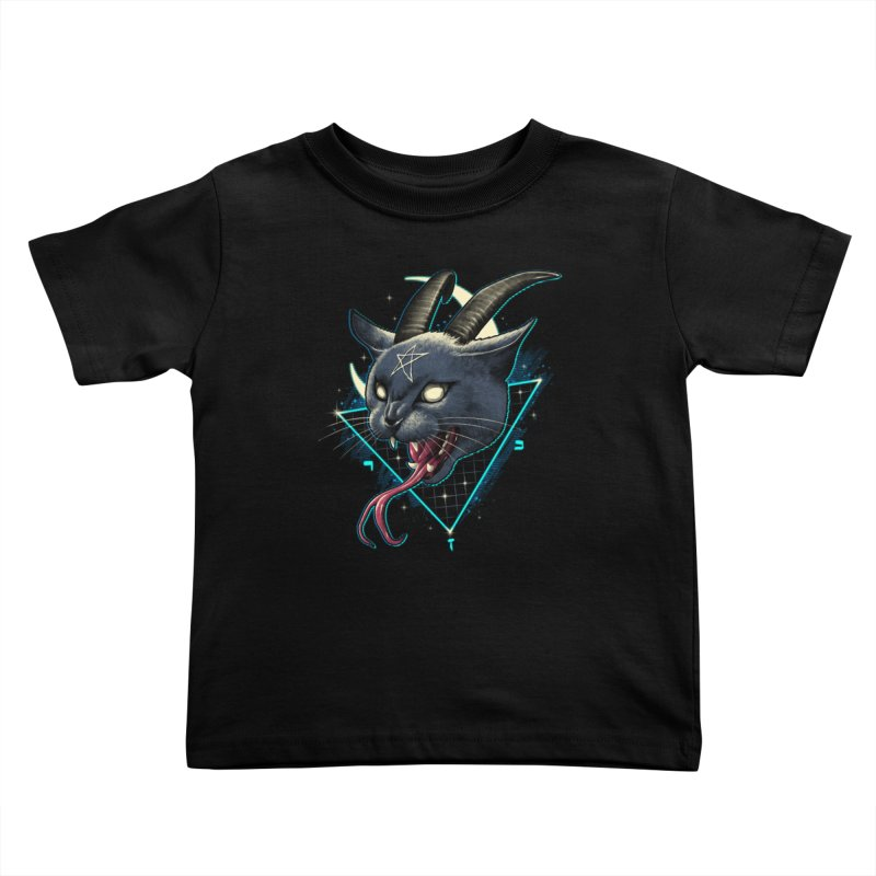 Rad Devil Cat Kids Toddler T-Shirt by vincenttrinidad's Artist Shop