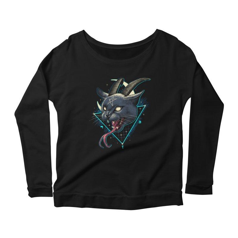 Rad Devil Cat Women's Scoop Neck Longsleeve T-Shirt by vincenttrinidad's Artist Shop