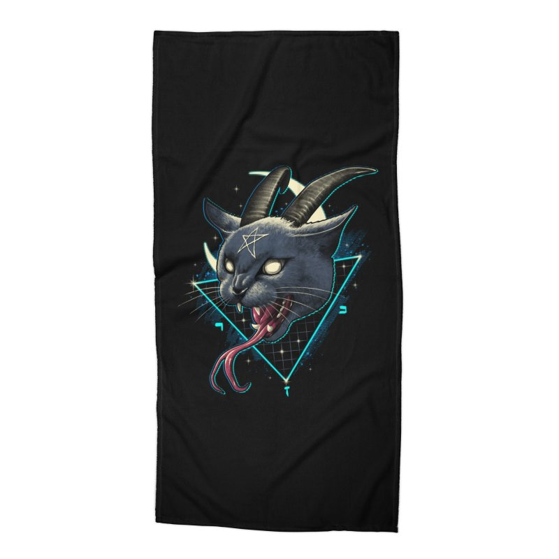 Rad Devil Cat Accessories Beach Towel by vincenttrinidad's Artist Shop