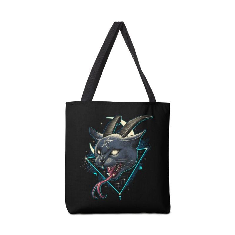Rad Devil Cat Accessories Bag by vincenttrinidad's Artist Shop