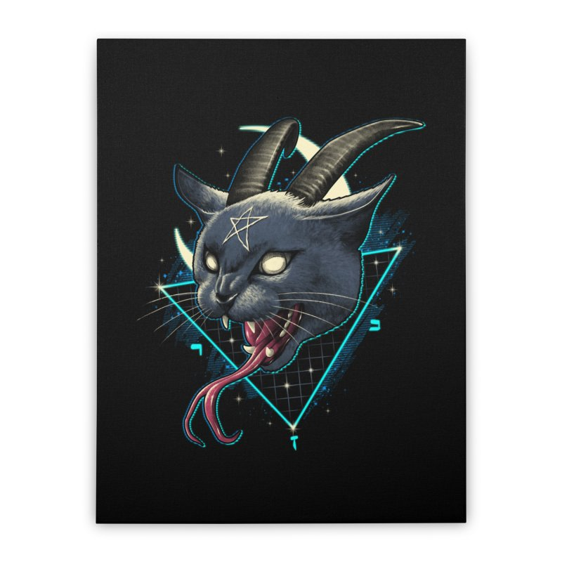 Rad Devil Cat Home Stretched Canvas by vincenttrinidad's Artist Shop