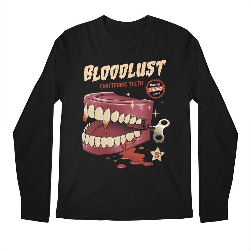 Wind-Up Killer Teeth Men's Regular Longsleeve T-Shirt by vincenttrinidad's Artist Shop