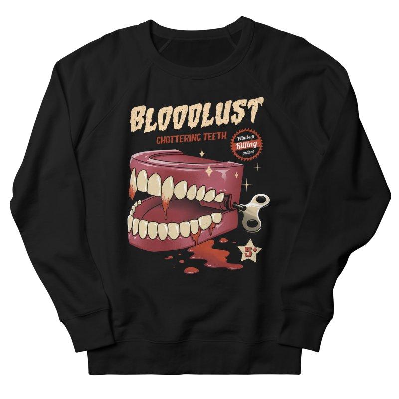 Wind-Up Killer Teeth Women's French Terry Sweatshirt by vincenttrinidad's Artist Shop