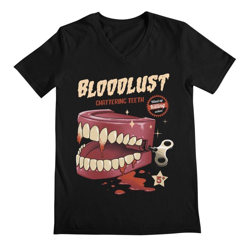 Wind-Up Killer Teeth Men's Regular V-Neck by vincenttrinidad's Artist Shop
