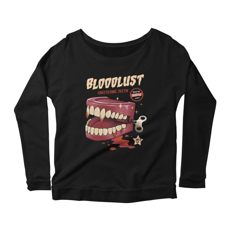 Wind-Up Killer Teeth Women's Scoop Neck Longsleeve T-Shirt by vincenttrinidad's Artist Shop