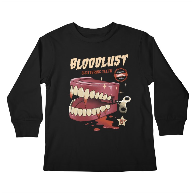 Wind-Up Killer Teeth Kids Longsleeve T-Shirt by vincenttrinidad's Artist Shop