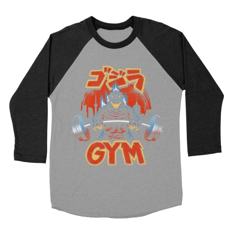 Zilla Gym Men's Baseball Triblend Longsleeve T-Shirt by vincenttrinidad's Artist Shop
