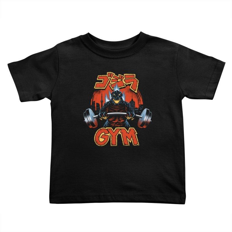 Zilla Gym Kids Toddler T-Shirt by vincenttrinidad's Artist Shop